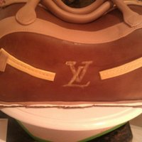 Louis Vuitton Purse Red Velvet Cake stacked and hand carved. I only had about a day to put it together! Since the order was such short notice i had to...