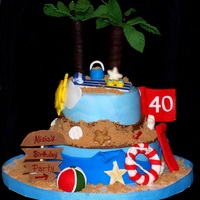 A Day At The Beach Beach cake