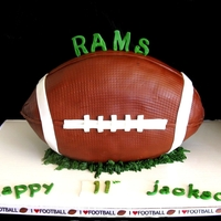 Are You Ready For Some Football? Wanted to try a standing football cake.
