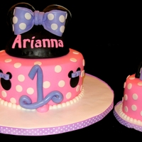1St Birthday Cake Minnie Mouse cake and a 1st birthday baby cake