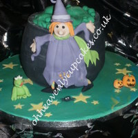 Witches Cauldron Cake for my kids Halloween party :0)