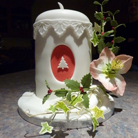 Christmas Candle Cake With Wired Holly, Ivy And Christmas Rose This is the cake that I made in the third evening class I attended. It is the first time I have tried wired leaves/flowers. There are...