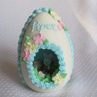 Sugar Egg Molded sugar egg with royal icing decorations