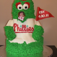 Phillies Phanatic Groom's Cake