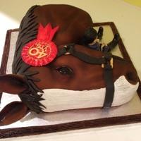 Horse Cake For A Riding Schools 40Th Anniversary Horse cake for a riding schools 40th anniversary