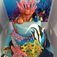 Finding Nemo Childrens Birthday Cake Finding Nemo children's birthday cake