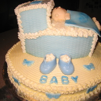 Baby Boy Shower Cake fondant and buttercream.