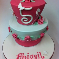 "Girly Cake   Tapered 6"" and 8""."