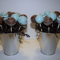 Cake Pops cake pops for a baby boy shower