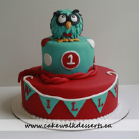 Owl Cake For A Little Boy Love The Colours Owl cake for a little boy :) Love the colours!