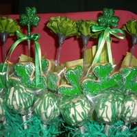 St Patricks Day Birthday Cookie Cake Balls Bouquets