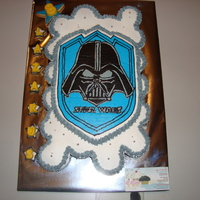 Star Wars Darth Vader Cupcake-Cake Star Wars Darth Vader Pull Apart Cupcake Cake!