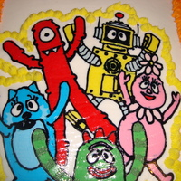 Yo Gabba Gabba Cake Yo Gabba Gabba image is a fbct. Cake is covered in buttercream!