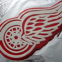 Redwings Logo Birthday Cake Made for my best friend's husband for his birthday last year. Not perfect and I didn't get a great photo of it, so you can't...