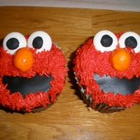 Elmo Cupcakes made for twin boys' 2nd birthday