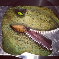 T-Rex My daughter's 8th birthday cake :)