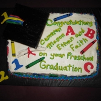 Kindergarden Graduation buttercream