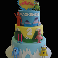 Yo Gabba Gabba Cake This cake i made for my little niece that looooooves yo gabba gabba... TFL