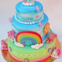 My Little Pony Cake Marzipan and gumpaste my little pony