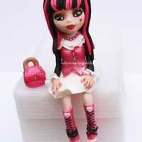 Monster High Draculaura Gumpaste Doll The Draculaura figure is made out of gumpaste.