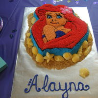 Alayna's Ariel Cake Made this one for my daughter's 7th birthday, Ariel themed, of course! I used the Wilton Ariel pan and found the details to be quite...