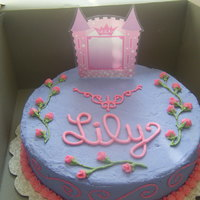 Lily's Princess Cake Made this for a little girl's second birthday. The cake topper actually holds a picture, which was added when it got to her party. It...