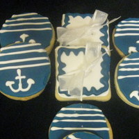 Nautical Theme Boy Cookies nautical theme baby boy shower cookies