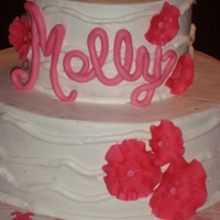 Baby Molly   all BC, fondant flowers and name...TFL