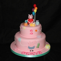 Peppa Pig Tiered Cake