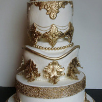 Baroque Style Cake This cake was made for a wedding of a very traditional family who wanted to portray exuberance, opulence and glamour.Many molds were made...