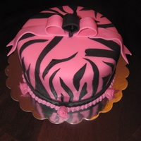 Peyton's Birthday Cake Hot Pink Zebra cake for a 12 year old. The cake was strawberry and lemon so I made the cake zebra striped too. This was a fun cake to make...