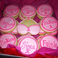 Sugar Cookies Iced In Royal Icing I Made These For A Coworker And Friend Who Has Been Diagnosed With Breast Cancer I Made These To Bring Sugar cookies iced in royal icing. I made these for a coworker and friend who has been diagnosed with breast cancer. I made these to bring...