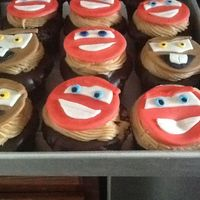Disney Cars Cupcakes Lightning Mcqueen And Tow Mater Fondant Toppers The Cupcakes Are A Chocolate Cupcake With Salted Caramel Filling D Disney Cars cupcakes. Lightning McQueen and Tow Mater fondant toppers. The cupcakes are a chocolate cupcake with salted caramel filling,...
