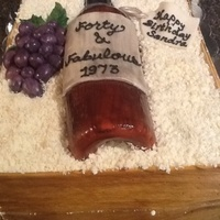 Wine Crate And Bottle Cake The Cake Was Vanilla With Ganache Filling The Wood Crate Wine Bottle And Grapes Are All Fondantgum Paste Th Wine crate and bottle cake. The cake was vanilla with ganache filling. The wood crate, wine bottle, and grapes are all fondant/gum paste....