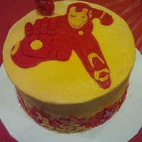 Iron Man Cake Iron man cake for my nephew's birthday.