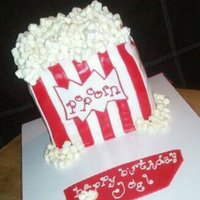 Popcorn Box Birthday Cake   Popcorn Box Birthday Cake