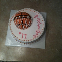 Basketball Net Girl buttercream with fondant accents