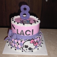 Monster High Purple Girly Glitter Buttercream with fondant accents