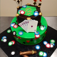 1 Of 3 Different Poker Cakes