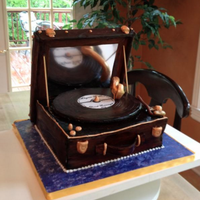 Vintage Record Player Cake This is a vintage record player cake I had the privilege of making for a good friend. I was inspired by a cake I found online but made some...