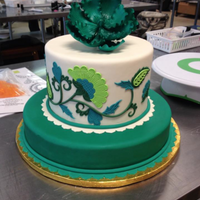 "This Is Another Cake I Made In Swank Cake Designs Jacobean Class They Are So Sweet And The Class Was Wonderful Very Thankful I Got To This is another cake I made in ""Swank Cake Design's"" Jacobean class. They are so sweet and the class was wonderful! Very..."