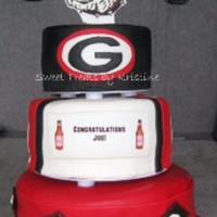 Georgia Bulldog Graduation Cake