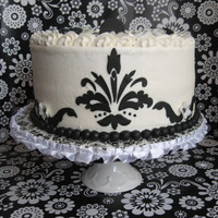Black & White Damask Bridal Shower