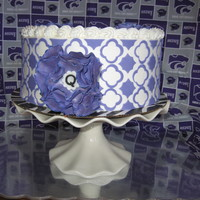 Quynn's Purple Pride White Cake with White Buttercream. Accents are fondant.