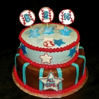 Baby Boy Baseball Shower Cake