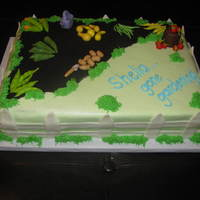 Shelia's Retirement Cake This was a cake made for a lady I used to work with. She loves to garden and grows several types of veggies. I was given a list of the...