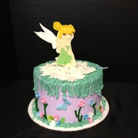 Tinkerbelle Chocolate cake with buttercream frosting. Tink made with my Cricut cake. TFL