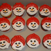 Snowman Cupcakes Fondant toppers
