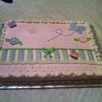 Shower Cake Butterfly baby shower cake