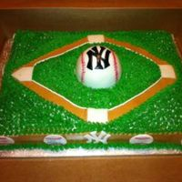 Yankees Tball Cake My sons end of season tball cake for their team.